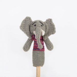 Finger Puppet: Elephant (Nzou)